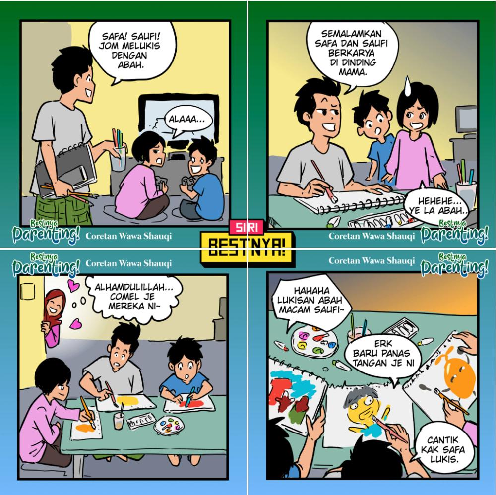 Komik Bestnya Parenting karya Wawa Shauqi, Nazr Syaff dan Khairul Khairuddin