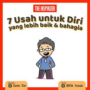 Muka depan komik 7 Usah Untuk Diri yang lebih baik dan bahagia