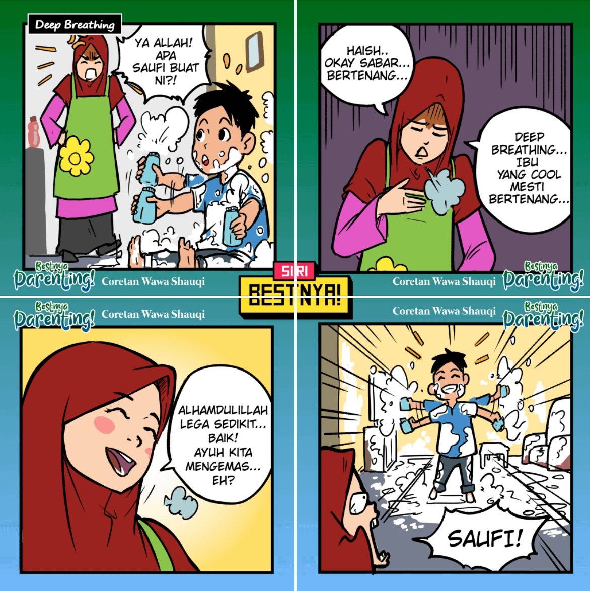 Komik Bestnya Parenting karya Wawa Shauqi, Nazr Syaff dan Khairul Khairudin