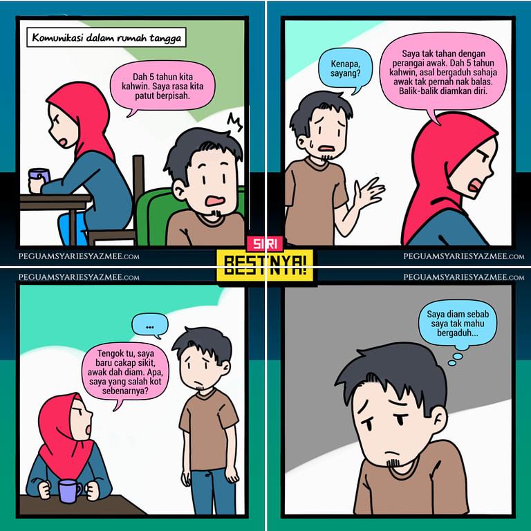 Komik tentang komunikasi dalam rumah tangga