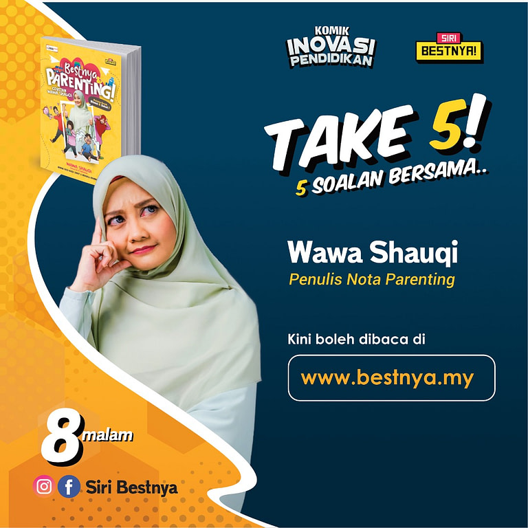 Poster gambar puan Wawa Shauqi sempena Wawancara di Siri Bestnya