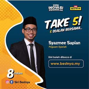 Take 5 Komik Inovasi pendidikan bersama Syazmee Sapian